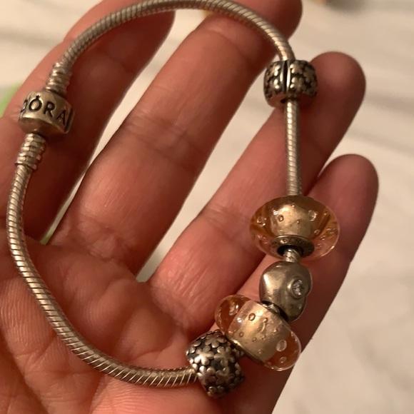 Pandora Jewelry - Pandora bracelet with 5 charms